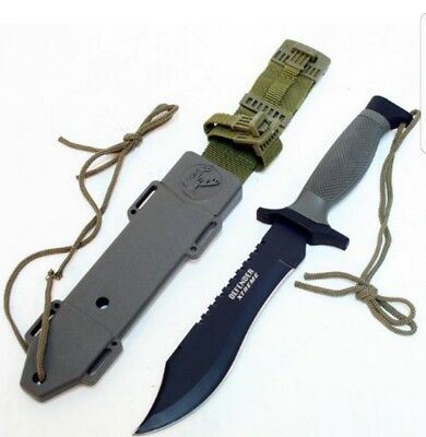 "Defender Xtreme Tactical Bowie Hunting Knife 12"" overall"