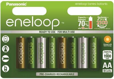 New Pack of 8x Panasonic Eneloop AA Rechargeable Batteries