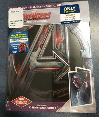 Avengers Age of Ultron [Limited STEELBOOK Edition] (Blu-ray 3D Combo) VISION