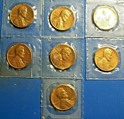 1963  D Lincoln Memorial Cent / Penny Set   *MINT CELLO*  Lot of 7