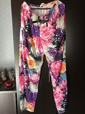 Peter Alexander PJ Pants Floral 30 Year Anniversary Edition Size XS Silky Winter
