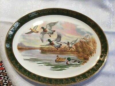 Royal Falcon Ware Weatherby Hanley Duck Platter 4-74 Made in England