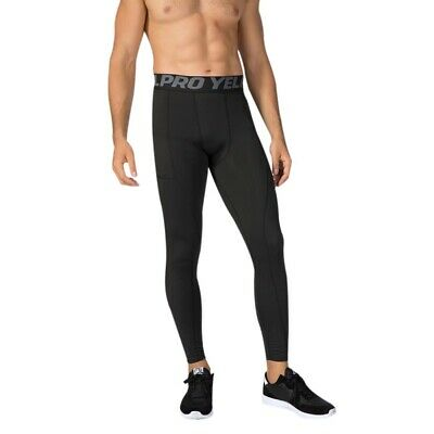 3d21e75de1d81 Men Compression Pants Base Layer Skin Tights Running Workout Gym Sports  Trousers.