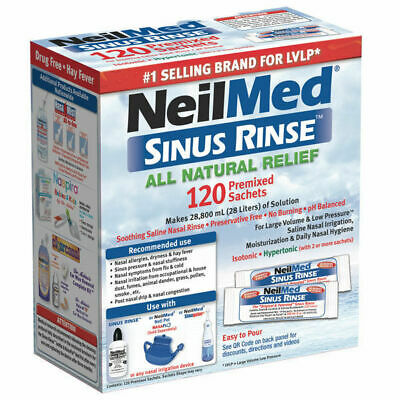 NEW NeilMed Sinus Rinse 120 Premixed Sachets Natural Relief EXP:06/2022 *MVC*
