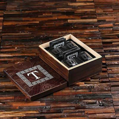 Personalised 4pc Whisky Glass & Slate Coaster Box Set for the Indoor Outlander