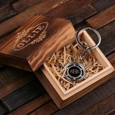 Ahoy Sailors! Personalized Stainless Steel Ship's Wheel Nautical Keychain