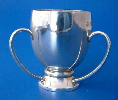 "Irish Silver Tyg Cup - Dublin 1917 by Wakely & Wheeler - Regd 373470 - 2""/5cm t"