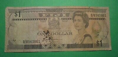 Old $1 Banknote From Fiji.(Low Grade)