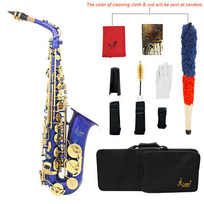 LADE Brass Alto Saxophone Sax Eb E-Flat Wind Instrument for Students S1Z1