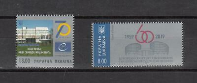 CEPT Ukraine  2019 Mi    MNH **  70 th Aniv. Of European Council 60 Year Human