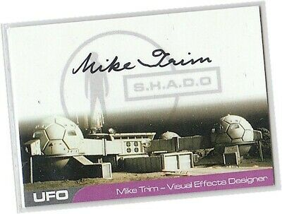 UFO AUTOGRAPH CARD Mike Trim as Special Effects Designer MT1