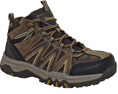 New Mens Hi Top Lace Up Hiking Boots Comfy Walking Trekking Trail Trainers Shoes