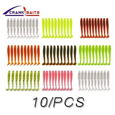 10Pcs /lot 45mm Wobbler Jigging Easy Shiner Soft Fishing Lure Silicone Bait Carp