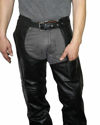 GENUINE LEATHER CHAPS  Biker XS Suit slim lady or very slim man BNWT