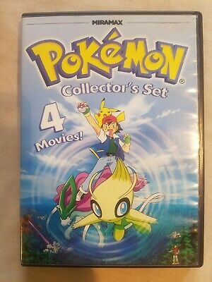Pokemon Collectors Set: 4 Movies RARE DVD *Combine Shipping & SAVE! Ships FAST!!