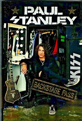 Backstage Pass Paul Stanley Signed 1St Edition Hardcover 2019