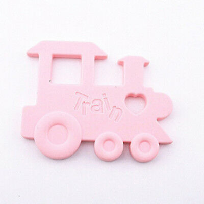 Kids Lovely Bright Coloured Train Silicone Teether Toy SO
