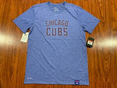 Nike Men's Chicago Cubs Fan DNA Dri Fit Jersey Shirt Large L Baseball MLB