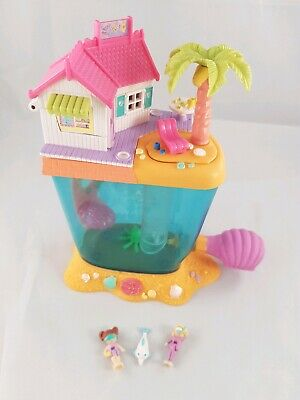 Vintage Polly Pocket BlueBird 1996 Dolphin Island COMPLETE USED RARE