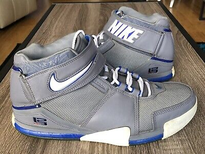 the best attitude 29812 6ea54 Nike Zoom Lebron II 2 Sz 11 All Star 309378-012 2004 Cool Grey White
