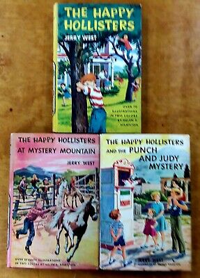 Happy Hollister 3 Lot Jerry West Mystery Mountain Punch and Judy hardcovers