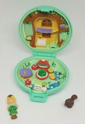 Vintage Polly Pocket BlueBird 1992 Jeweled Jewel Princess Forest Green COMPLETE