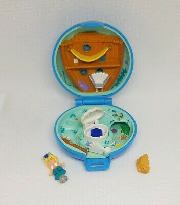 Vintage Polly Pocket BlueBird 1992 Jeweled Jewel Princess Sea Blue COMPLETE