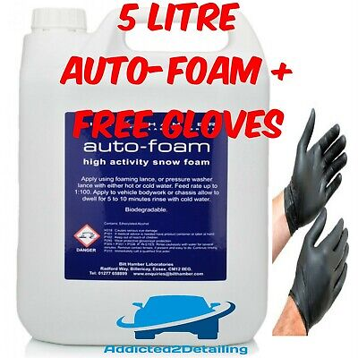 5 Litre Bilt Hamber Auto-Foam Pre Wash Snow Foam For Lance Car Shampoo+Gloves