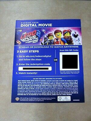 The Lego Movie 2 The Second Part Digital HD Movie Code For Canada