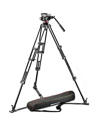 Manfrotto MVH502A,546GB-1 Professional Fluid Video System with Aluminum Tripo...