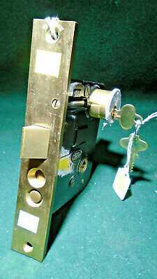 "CORBIN 01839 RH ENTRY MORTISE LOCK w/CYLINDER & KEYS: 8"" FACE NEW OLD STK(10539)"