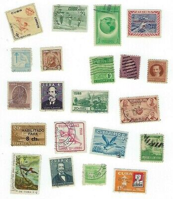 MIKE'S STAMPS - 1CUBA- USED 1930s-1940s MIXED LOT USED
