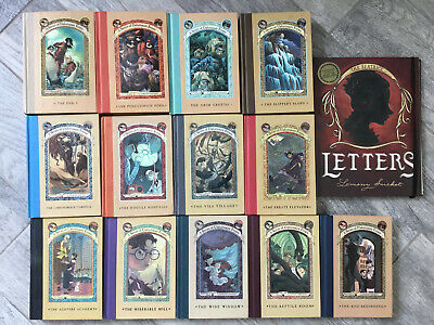 14 LEMONY SNICKET Series of Unfortunate Events Complete set Hardcover bonus book