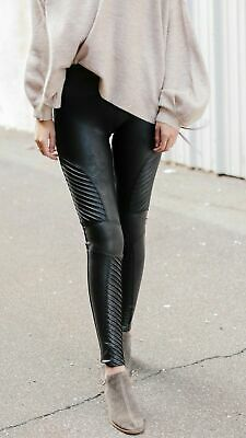 64c3f917afb959 SPANX FAUX LEATHER Moto Leggings Size L, New With Tags!! - $90.00 ...