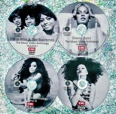 Supremes & Diana Ross Music Video Retrospective Reel 1981-2018 4 DVD Set 89 Vids