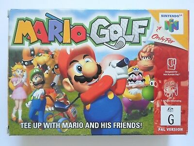 Mario Golf - Nintendo 64 N64 AUS PAL Game - Boxed & Complete