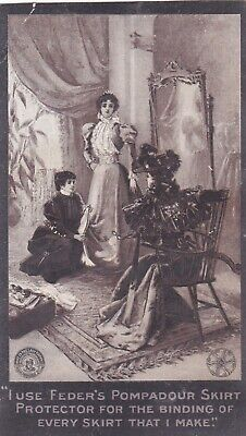 Vintage Victorian Antique Trade Card Feder's Skirt Protector