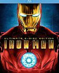 Iron Man (Blu-ray Disc, 2008, 2-Disc Set, Ultimate Edition)(FREE SHIPPING)