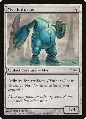 *CARTAPAPA* MAGIC MTG Myr de plomb Leaden Myr *4 MIRRODIN