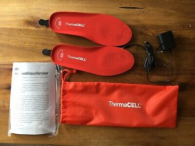 New Thermacell Heated Insoles Size Medium *Missing Remote* Rechargeable Wireless