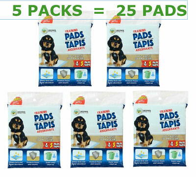 5 X Heavy Duty Pet Tapis Absorbants Puppy Training Pads, 5-ct Ea Pack NEW SEALED