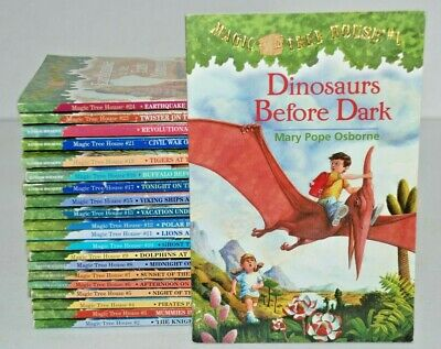 21 lot Magic Treehouse books Mary Pope Osborne  1-13, 15, 17-19, 21-24 PB