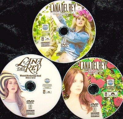 LANA DEL REY Visual Reel 3 DVD Set with 58 Music Videos 2010-2018 White Mustang