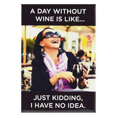 A Day Without Wine is like Fridge Magnet Funny Decor Retro Novelty Gift Humour