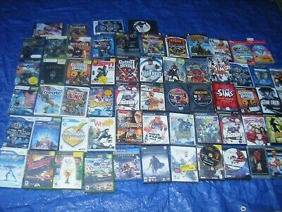 HUGE Lot of 63 - XBOX PSP PC PS3 PS2 Wii Xbox 360 Playstation 2 Gamecube ps4
