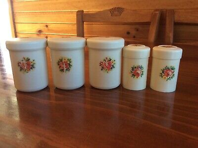 Vintage Nally Ware Spice Canisters