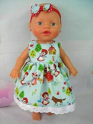 Dolls clothes 32cm Little Baby Born/Alive Doll~LITTLE RED RIDING HOOD DRESS SET