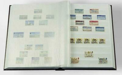 Stamp Collecting 6.5 x 9 Stockbook Album 16 White Pages Collectors Storage-Green