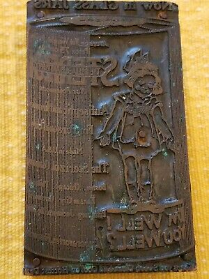 Vintage Advertisement Wood Block Stamp Sterizol I'm Well You Well?