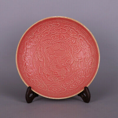 Chinese Song Ding Kiln Dragon pattern Porcelain plate